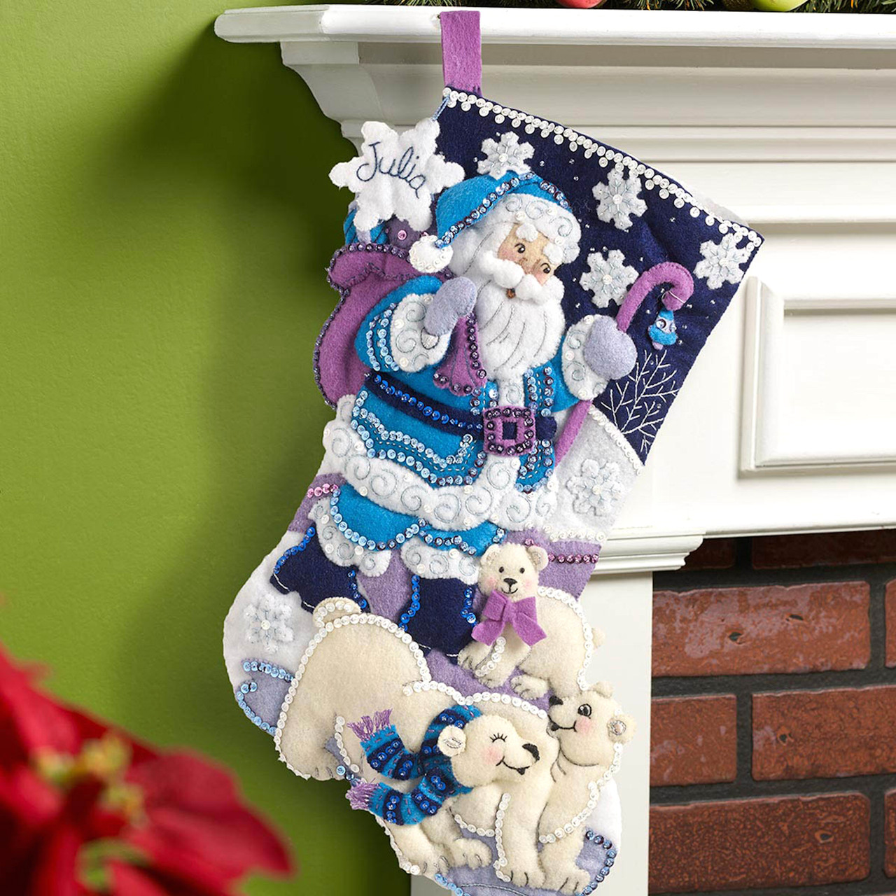 Plaid / Bucilla - Arctic Santa Stocking