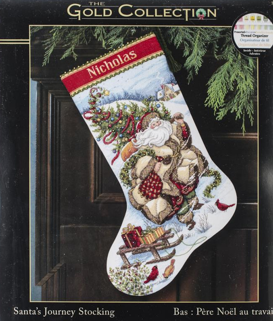 Gold Collection - Santa's Journey Stocking