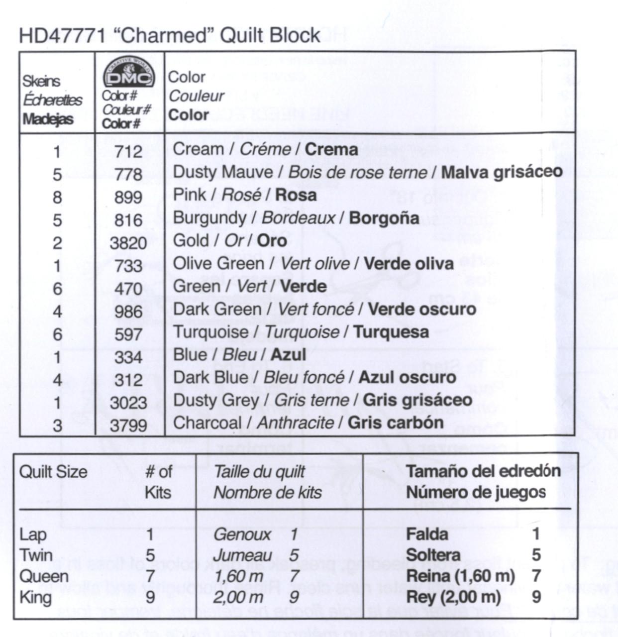 Plaid / Bucilla - Waverly Charmed Quilt Blocks (6)