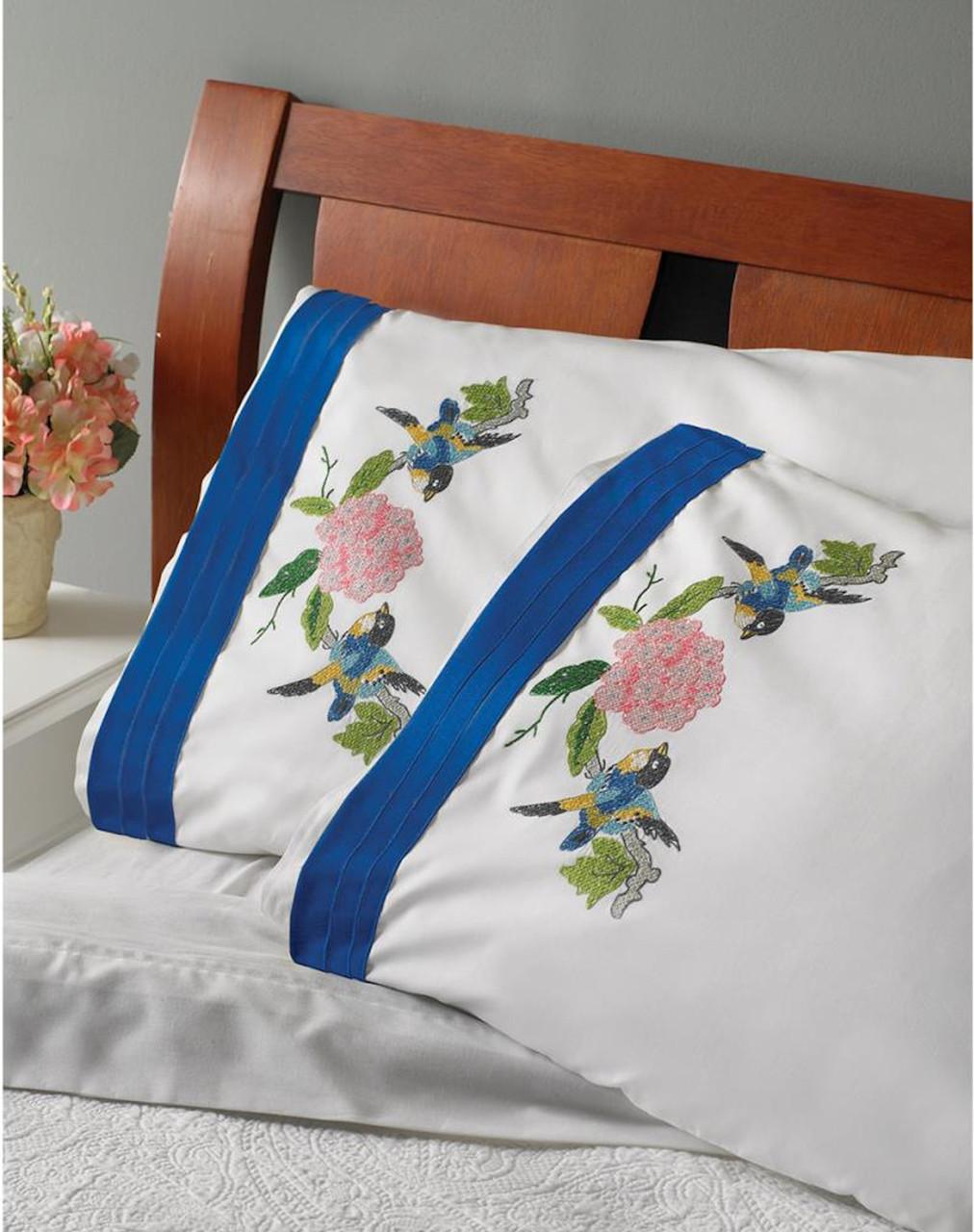 Plaid / Bucilla - Waverly Charmed Pillowcases (2)