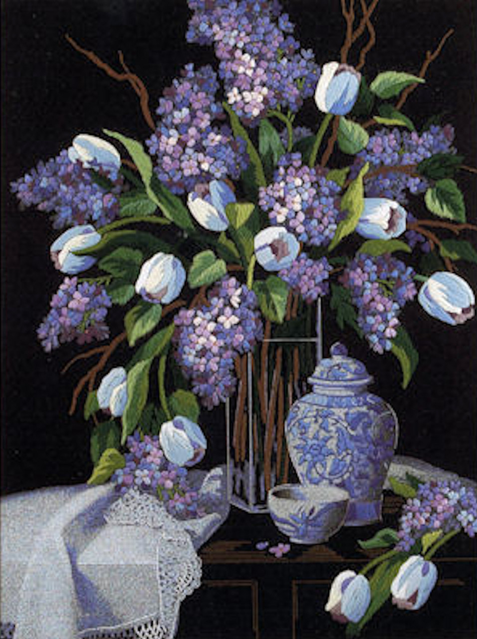 """Dimensions Tulips /& Lilacs Needlepoint Kit-12/""""X16/"""" Stitched In Floss"""