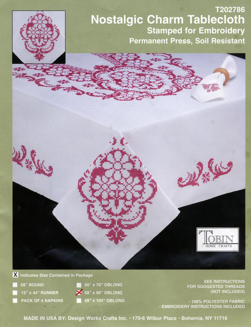 "Design Works - Nostalgic Charm Tablecloth 58"" x 90"""