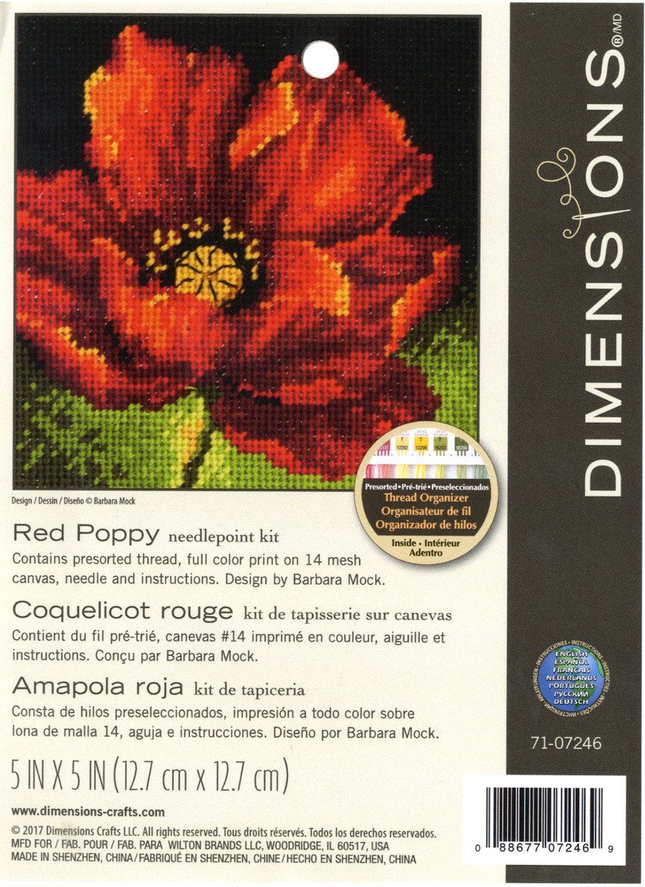 Dimensions - Red Poppy
