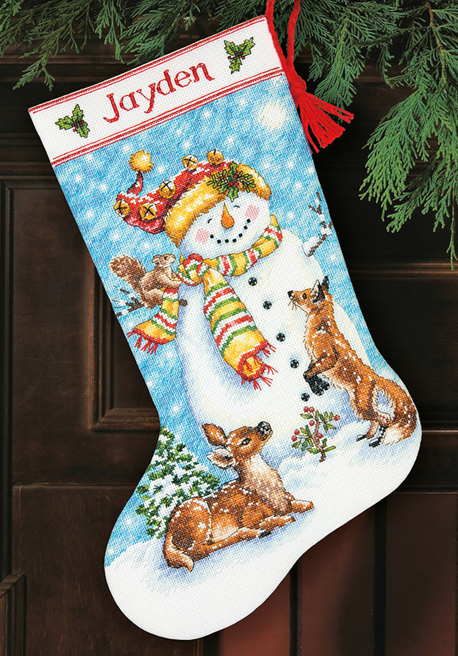 Dimensions Christmas Stocking Kits.Dimensions Winter Friends Stocking