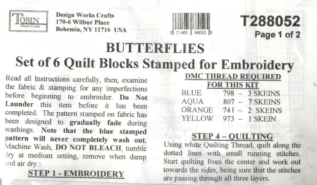 Design Works - Butterfly Quilt Blocks (6)