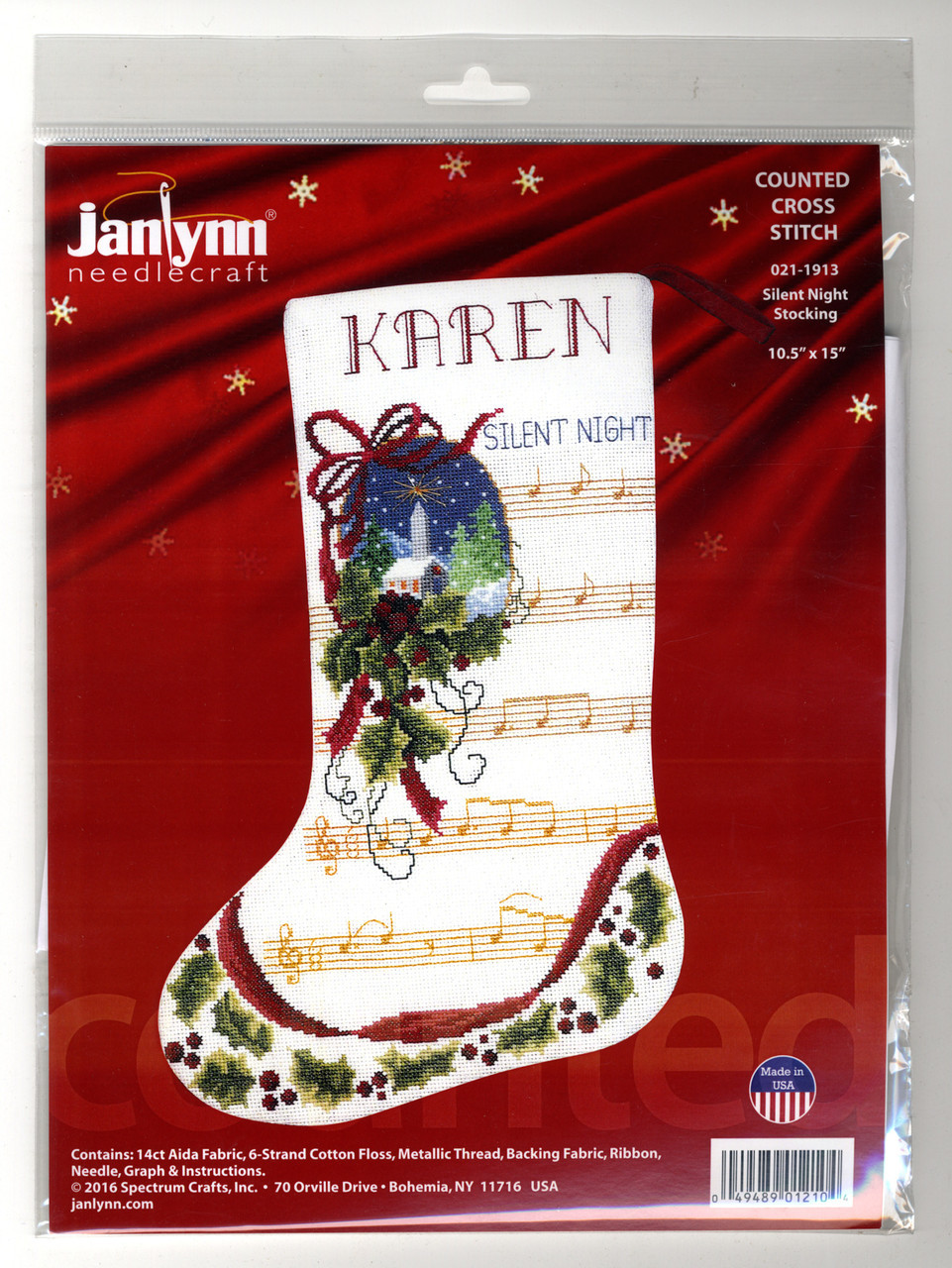 Janlynn - Silent Night Stocking