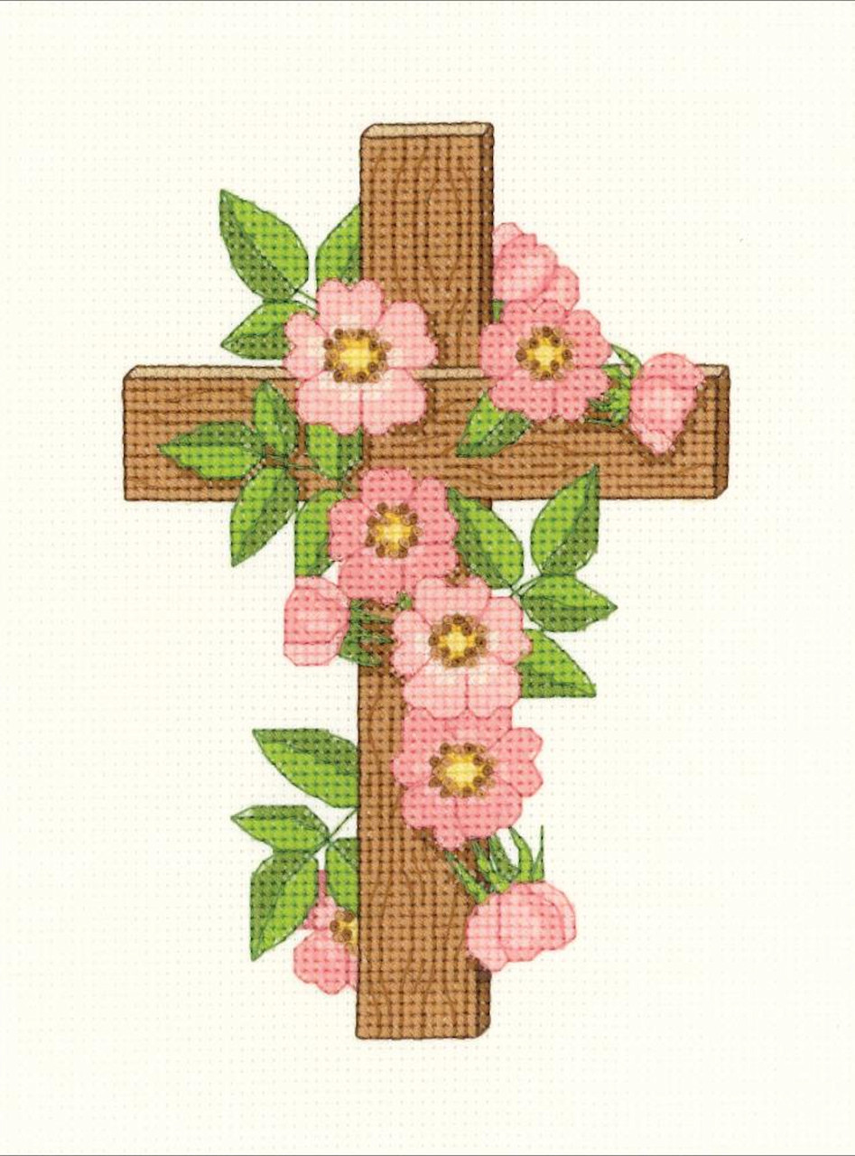 Janlynn - Floral Cross