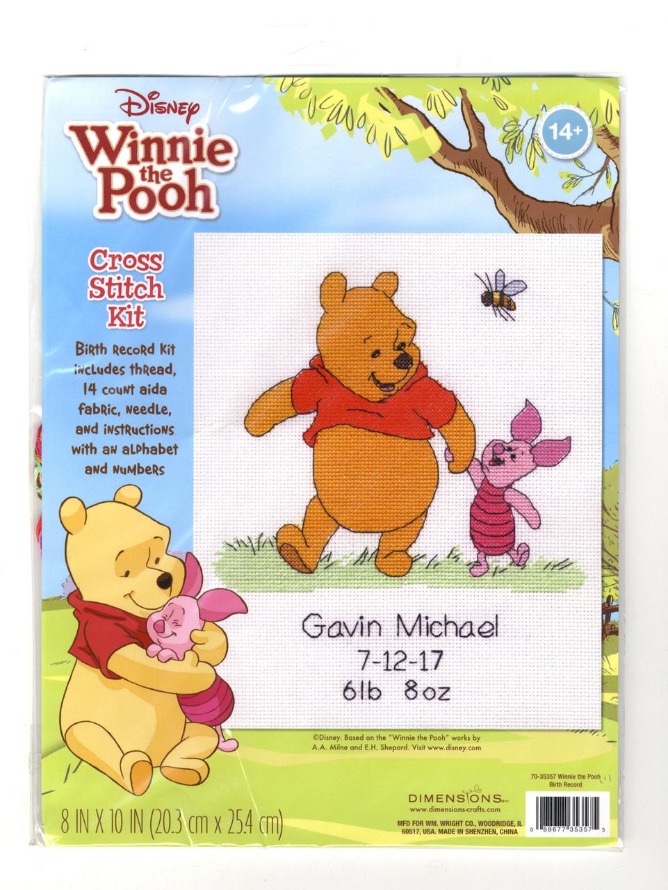 Dimensions - Disney Winnie the Pooh Birth Record