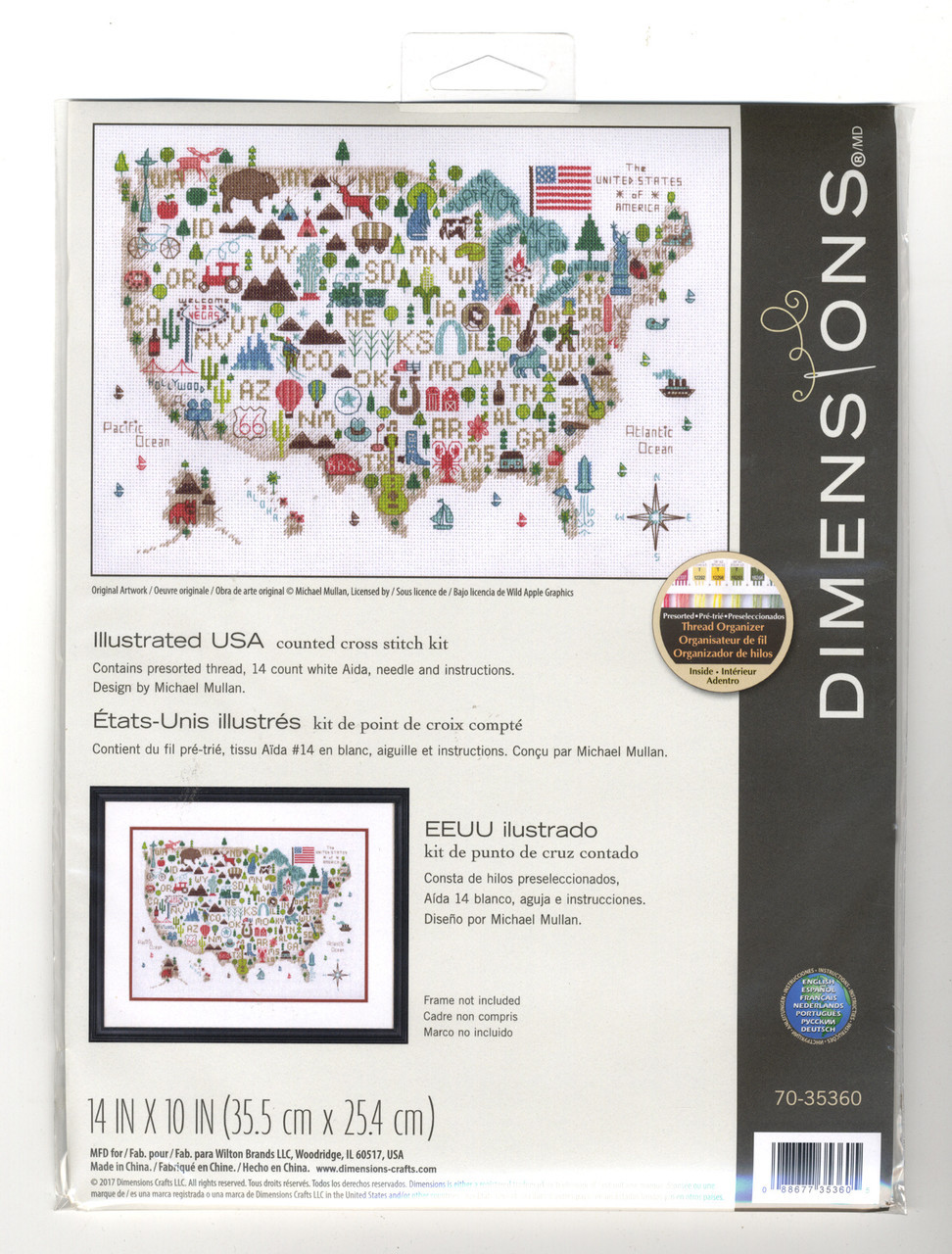 Dimensions - Illustrated USA