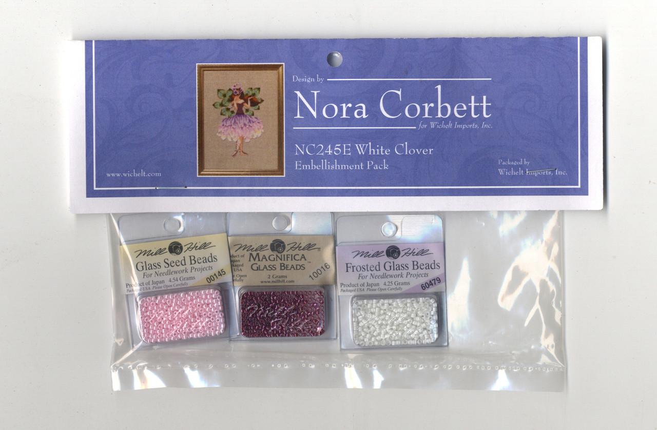 Nora Corbett Embellishment Pack  - White Clover