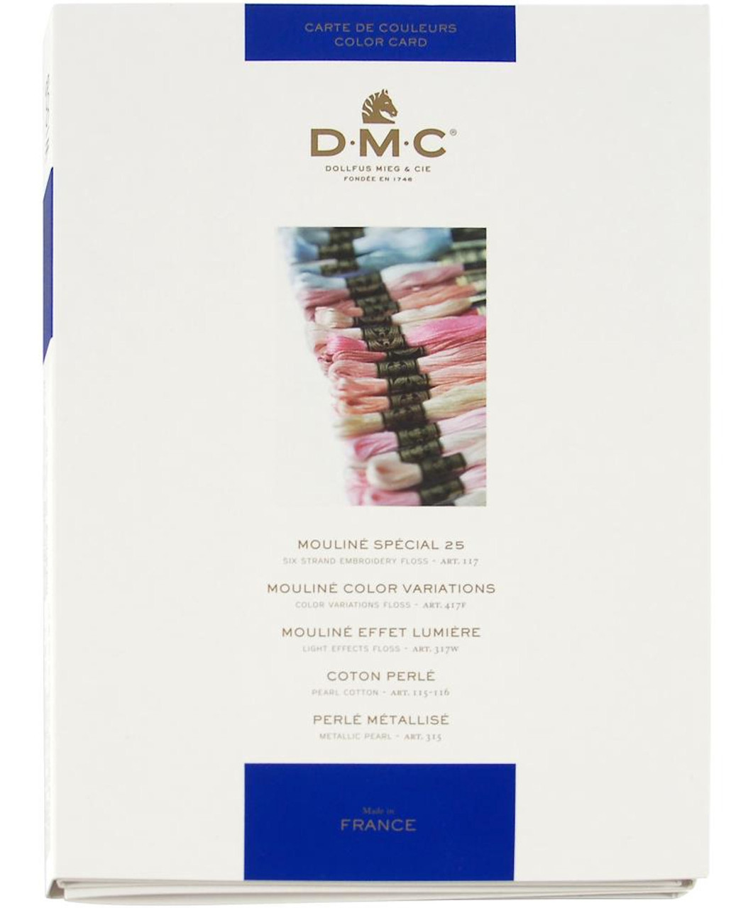 DMC - 2018 Floss Color Chart (With Real Floss Samples)