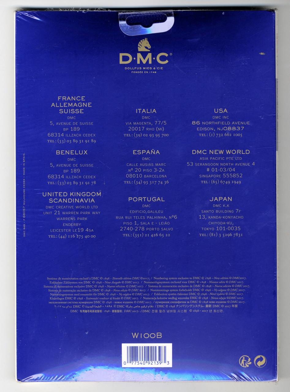 DMC - Floss Color Chart (With Real Floss Samples)