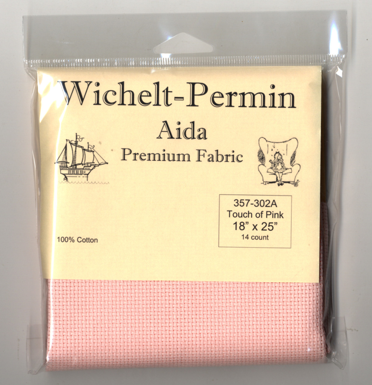 Wichelt - 14 Ct Touch of Pink Aida 18 x 25 in