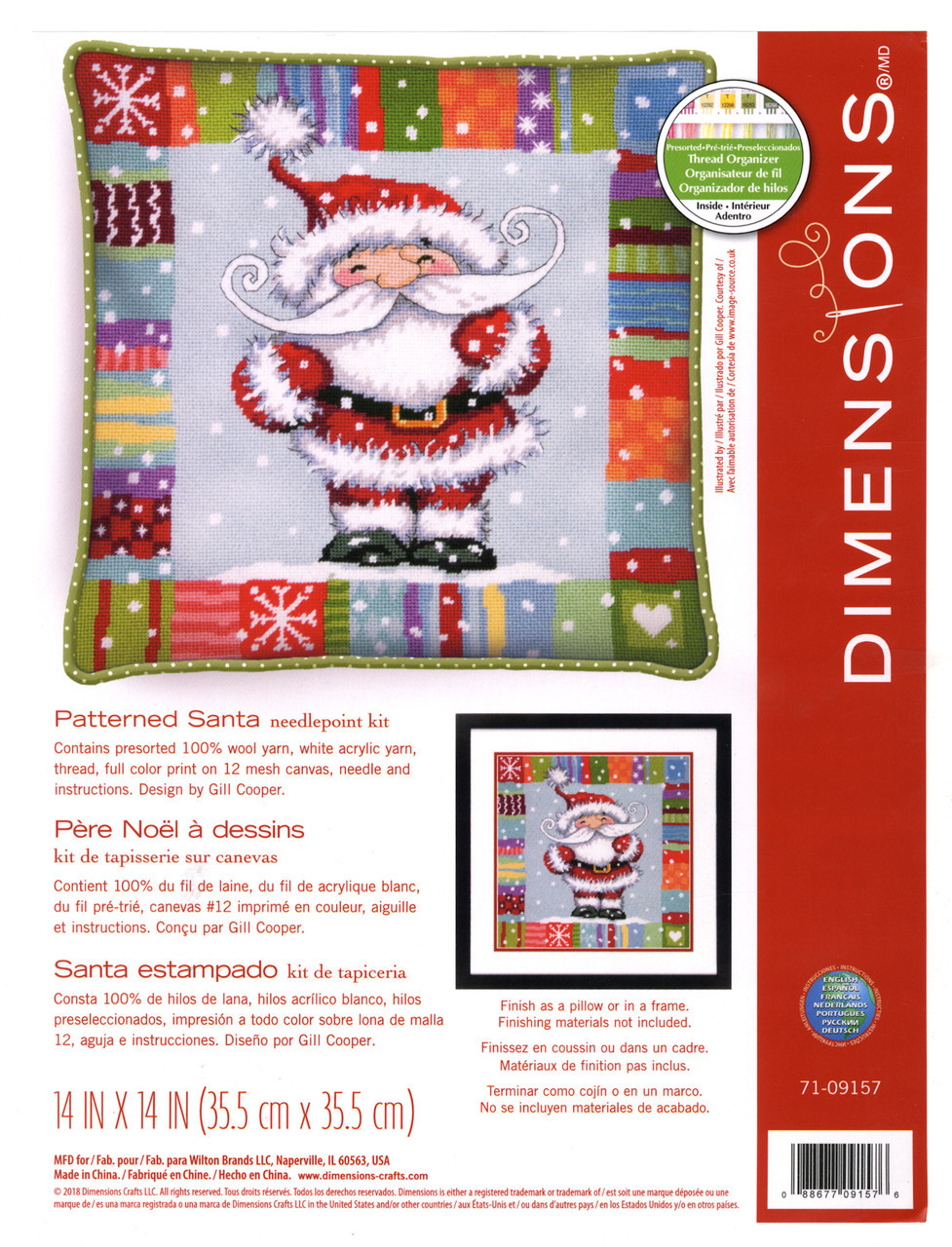 Dimensions - Patterned Santa Picture