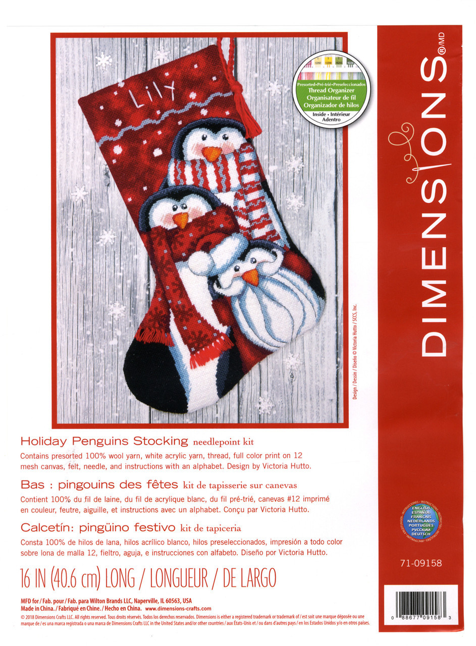 Dimensions - Happy Penguins Stocking