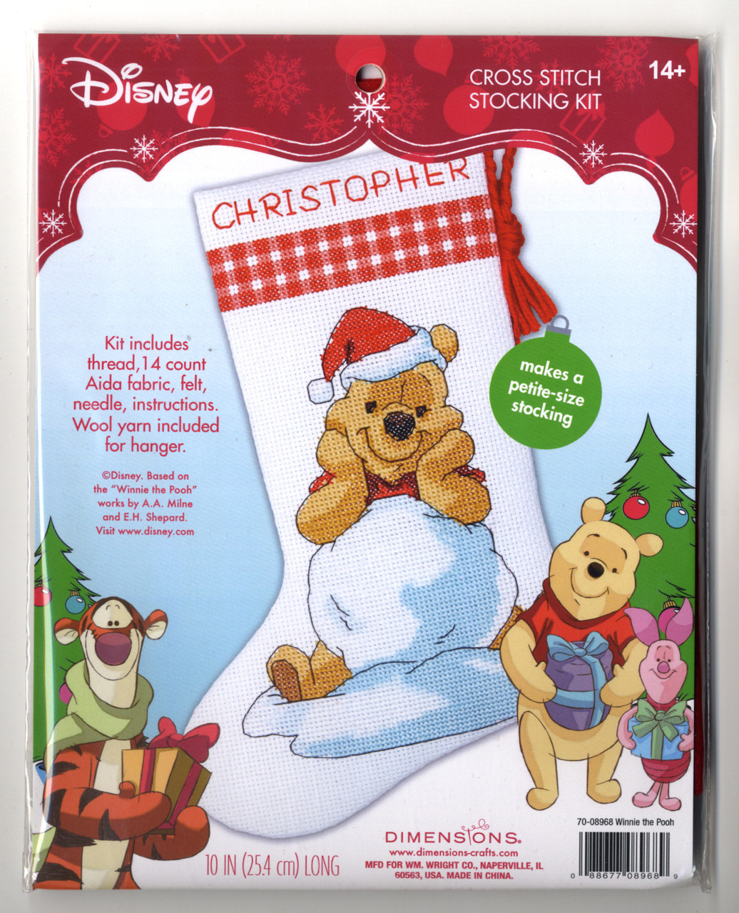 Winnie The Pooh Counted Cross Stitch Kit Santa Pooh