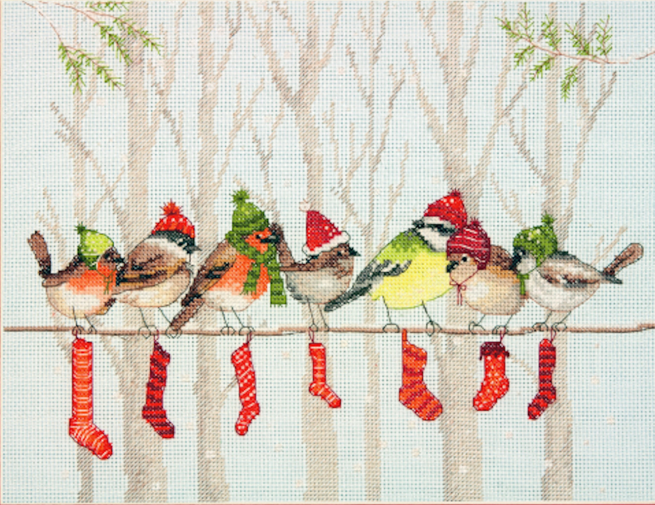 Counted Cross Stitch Kit OVEN Winter day