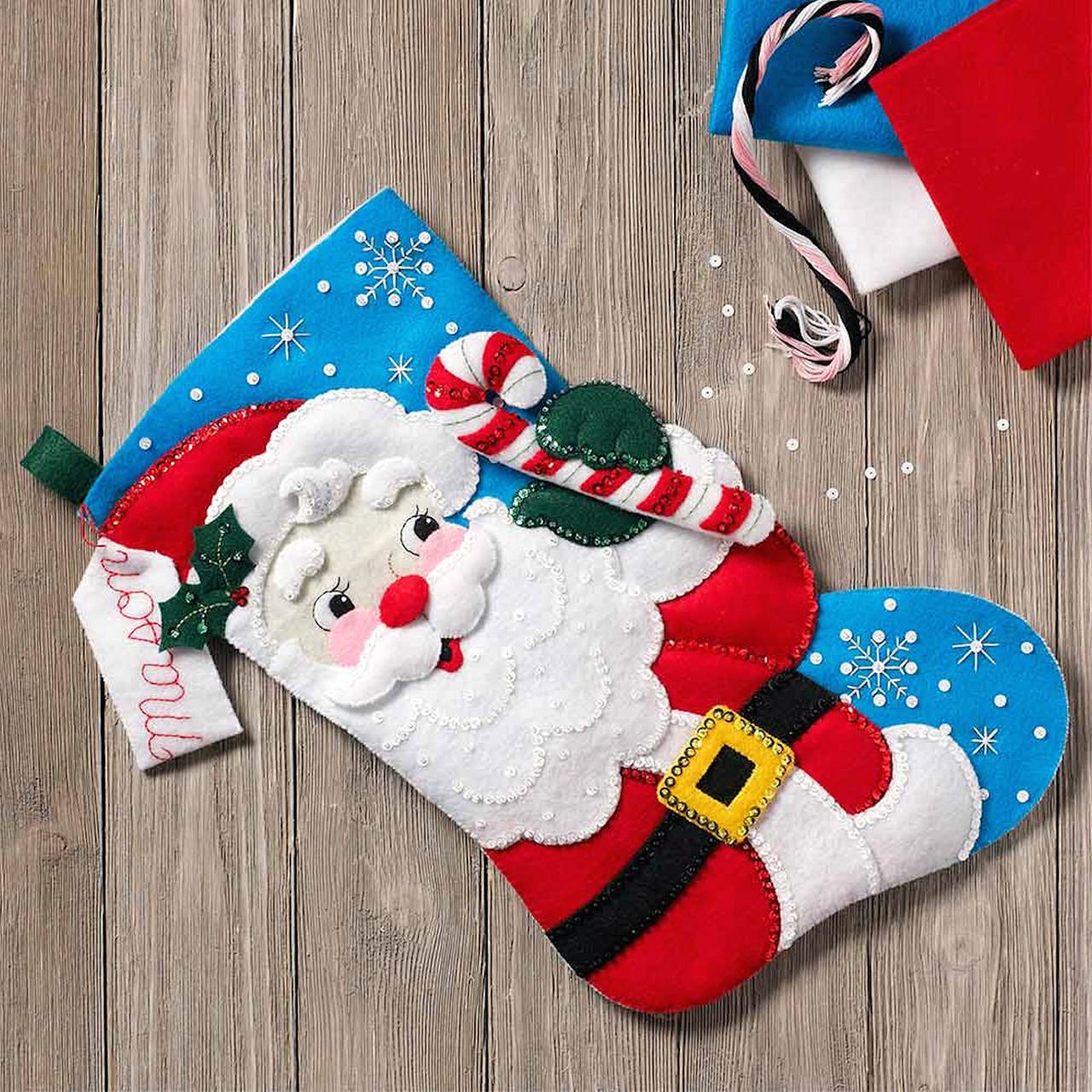 Plaid / Bucilla - Hello Santa Stocking