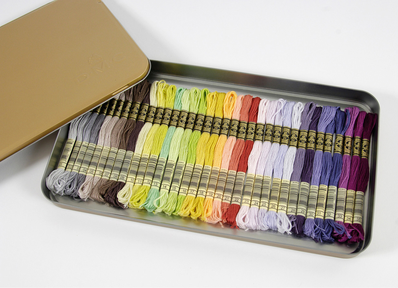 DMC Embroidery Floss Tin w/35 New (2017) Colors