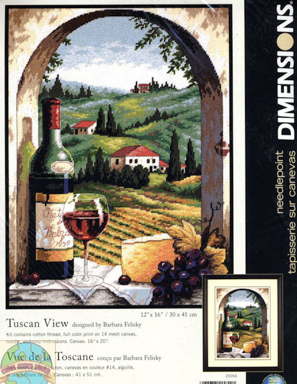 Dimensions -  Tuscan View