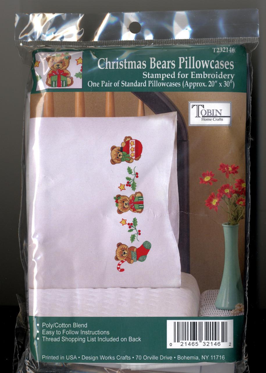 Design Works - Christmas Bears Pillowcases (2)
