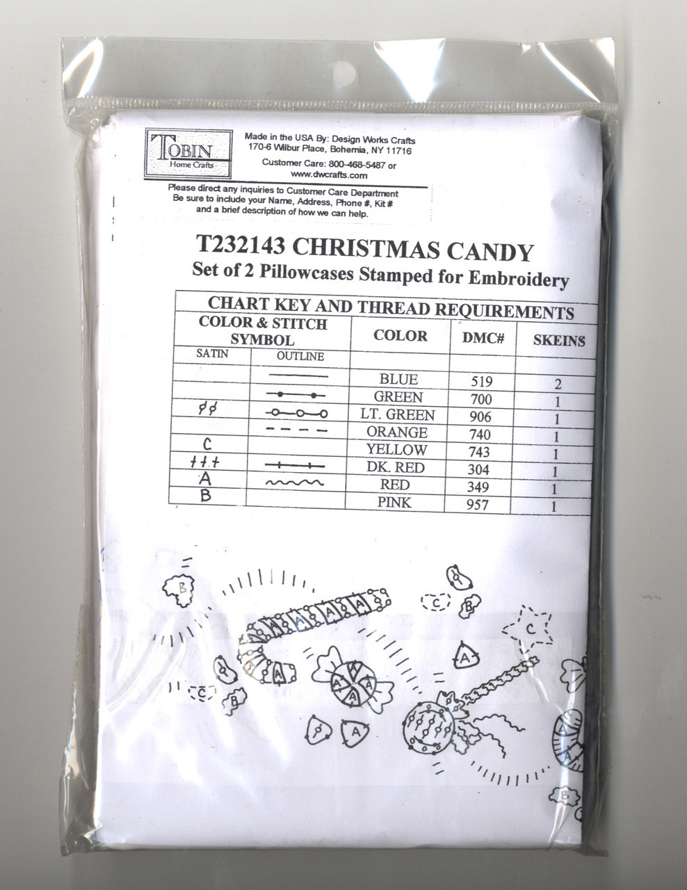 Design Works - Christmas Candy Pillowcases (2)