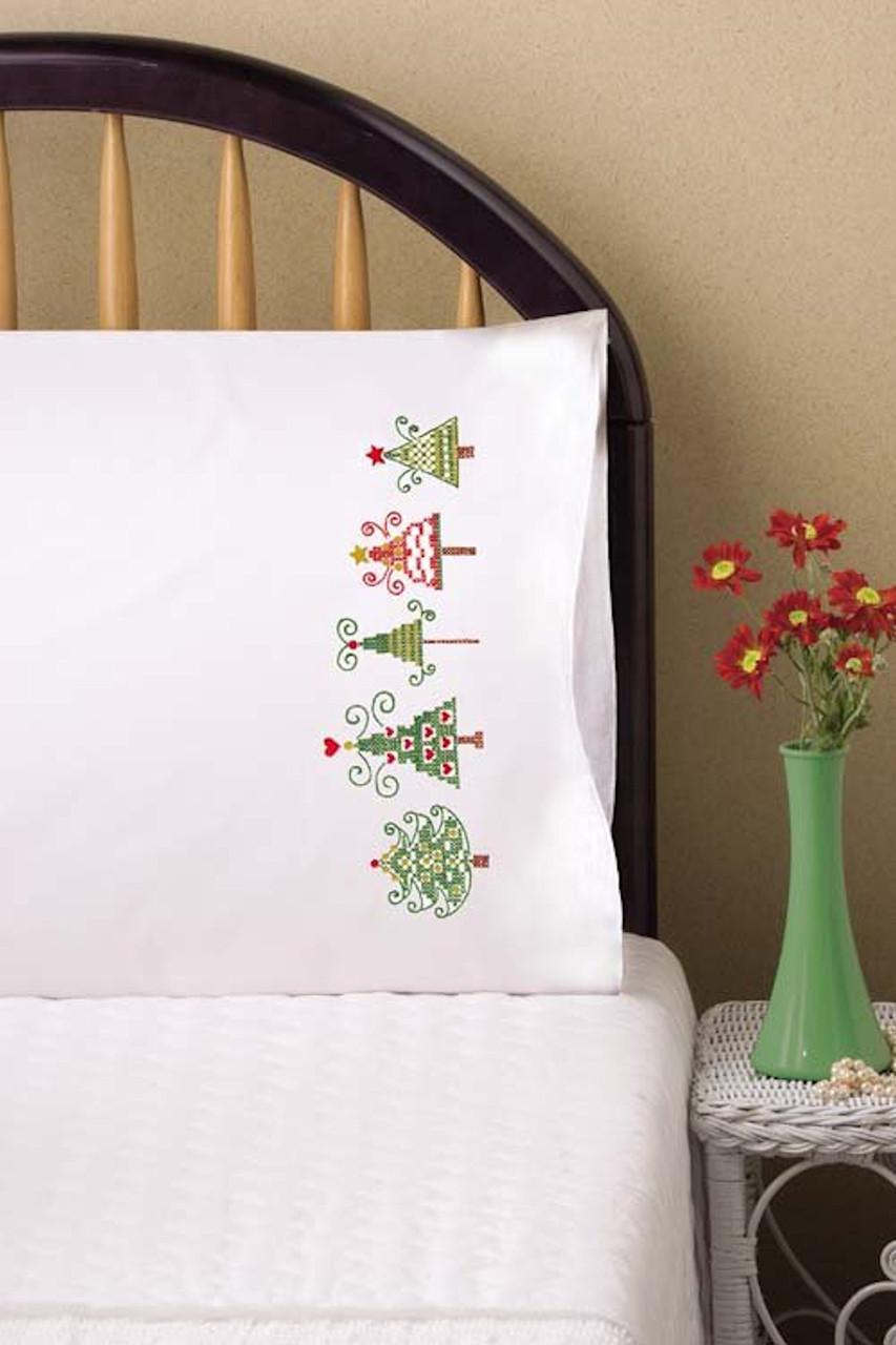 Design Works - Christmas Trees Pillowcases (2)