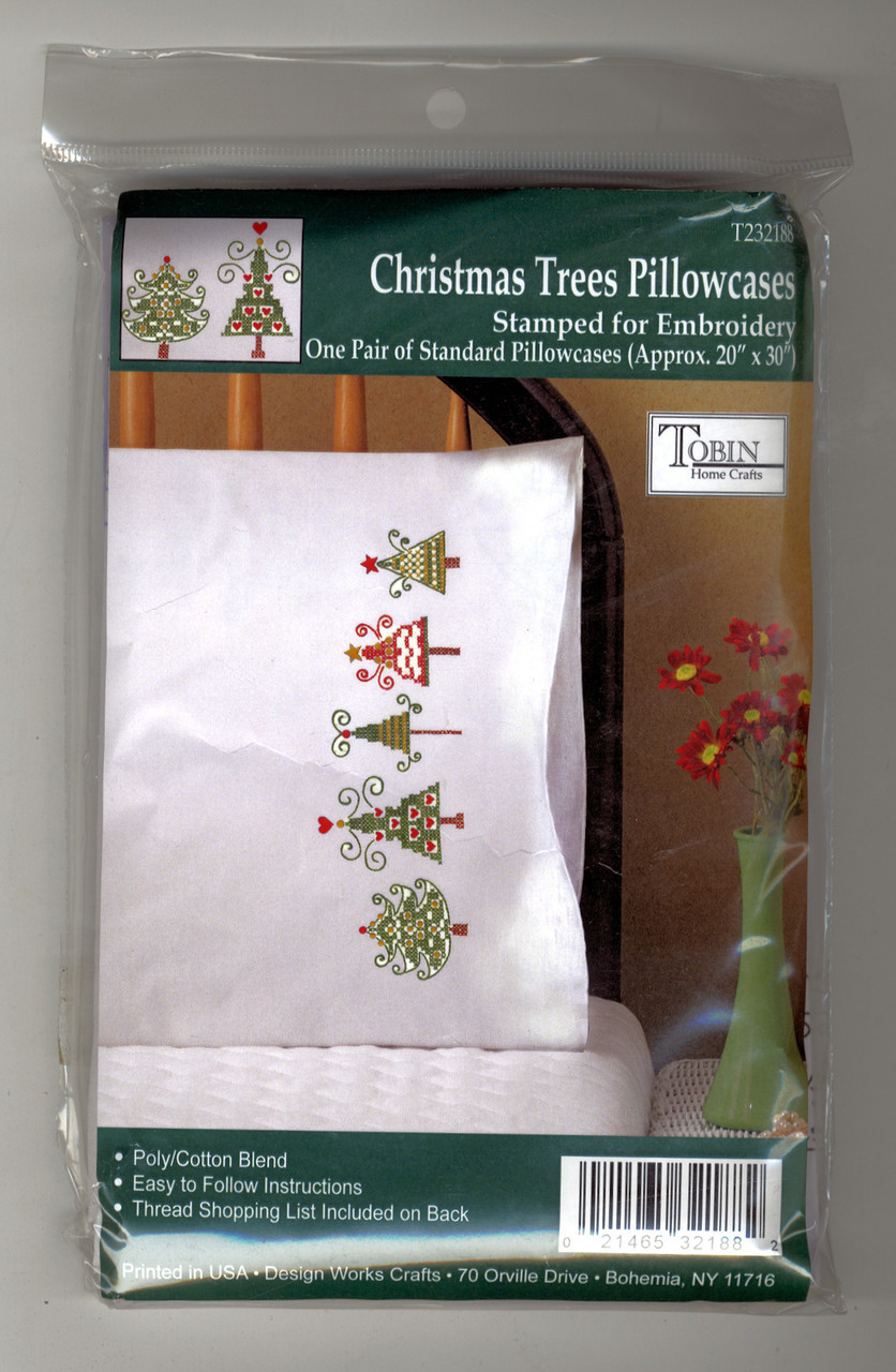 Design Works - Christmas Trees Pillowcases (2)