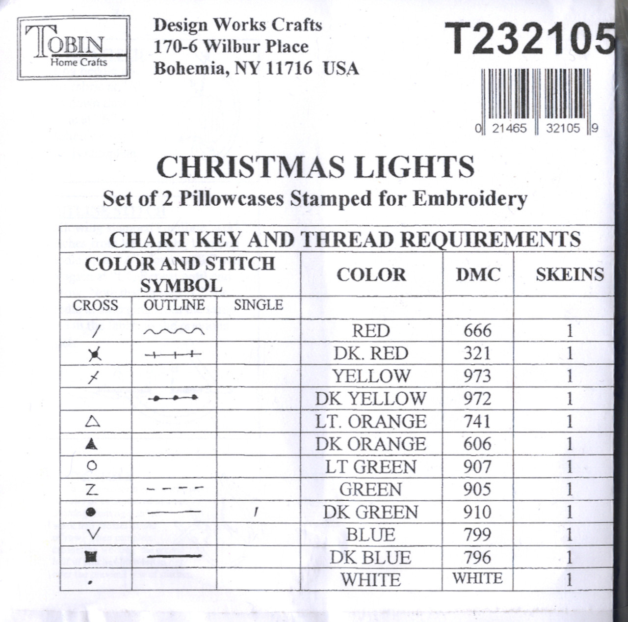 Design Works - Christmas Lights Pillowcases (2)