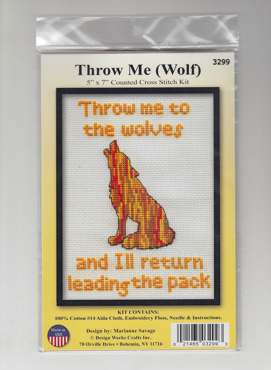 Design Works - Throw Me (Wolf)