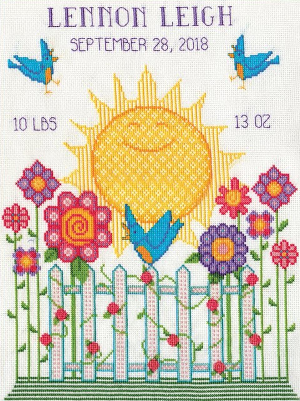 Design Works - Sunshine Birth Sampler