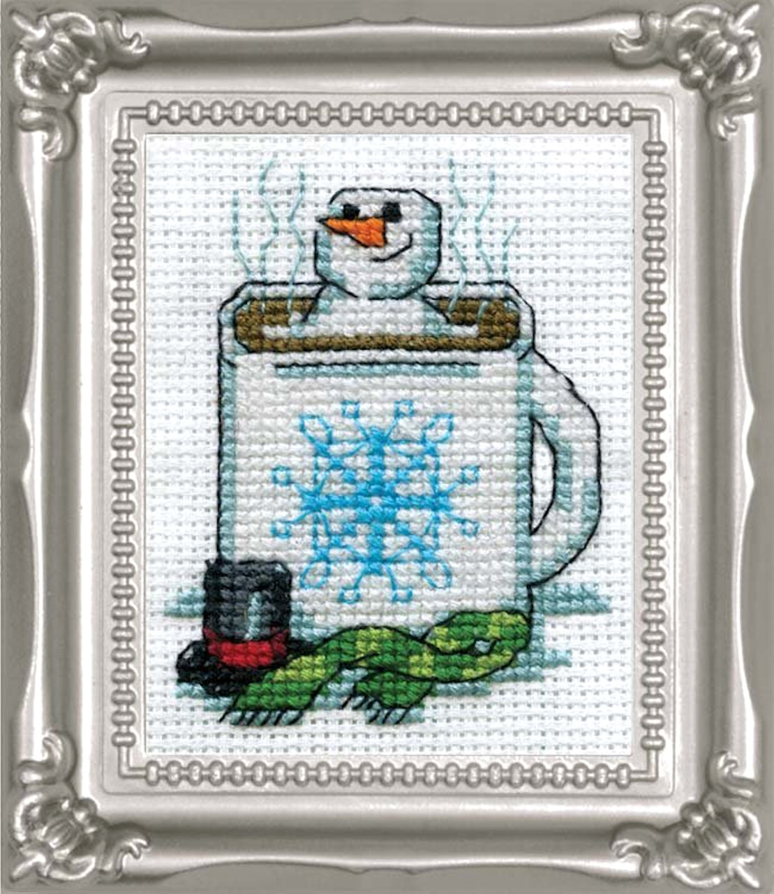 Design Works -  Cocoa Snowman Picture Kit w/Frame