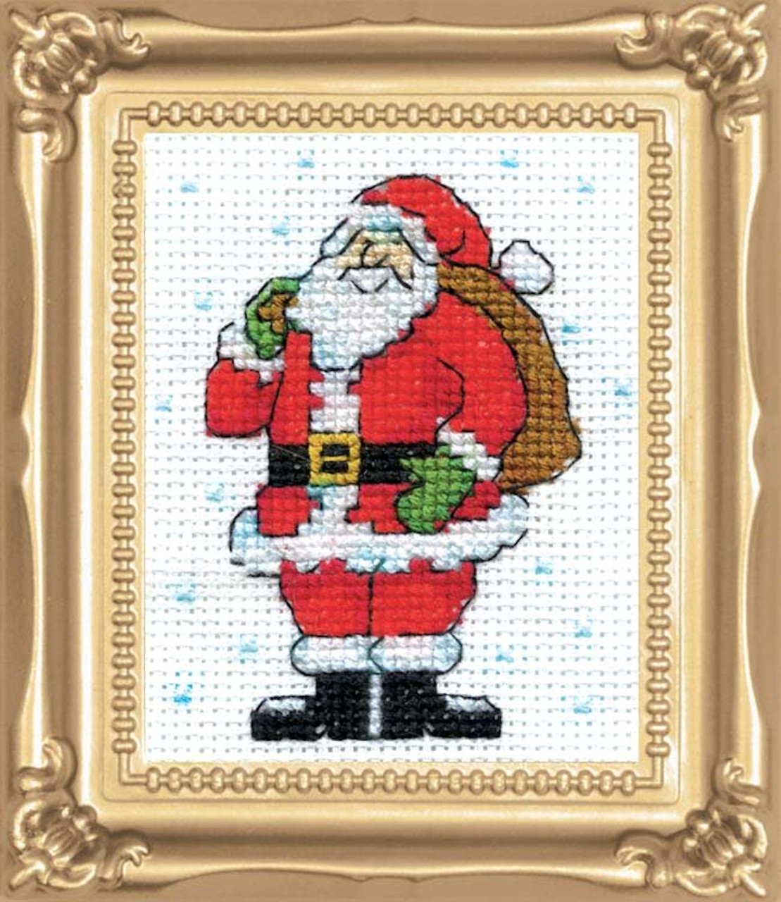 Design Works -  Standing Santa Picture Kit w/Frame