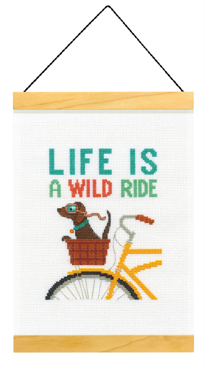 Dimensions - Life is a Wild Ride Wood Banner