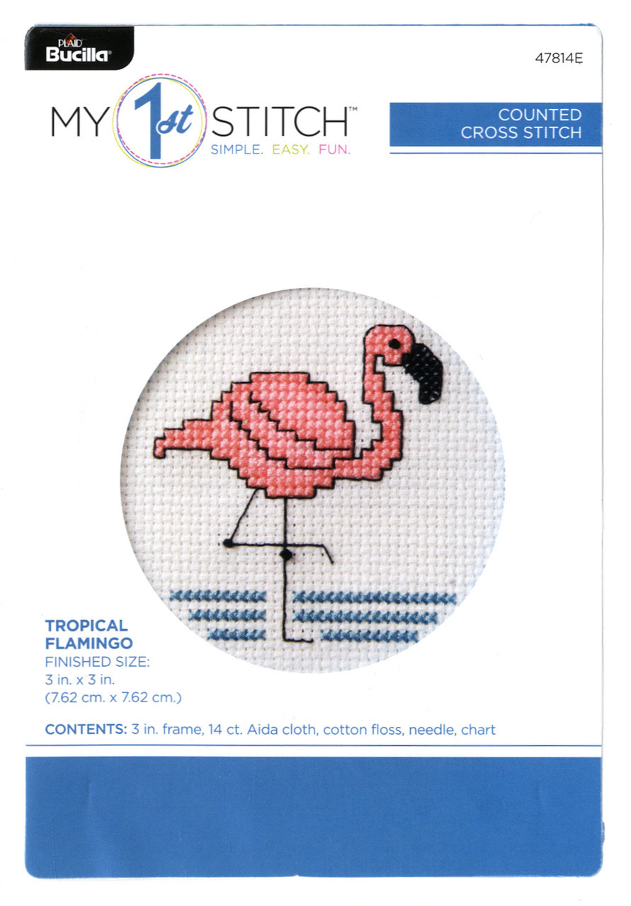 My 1st Stitch - Tropical Flamingo
