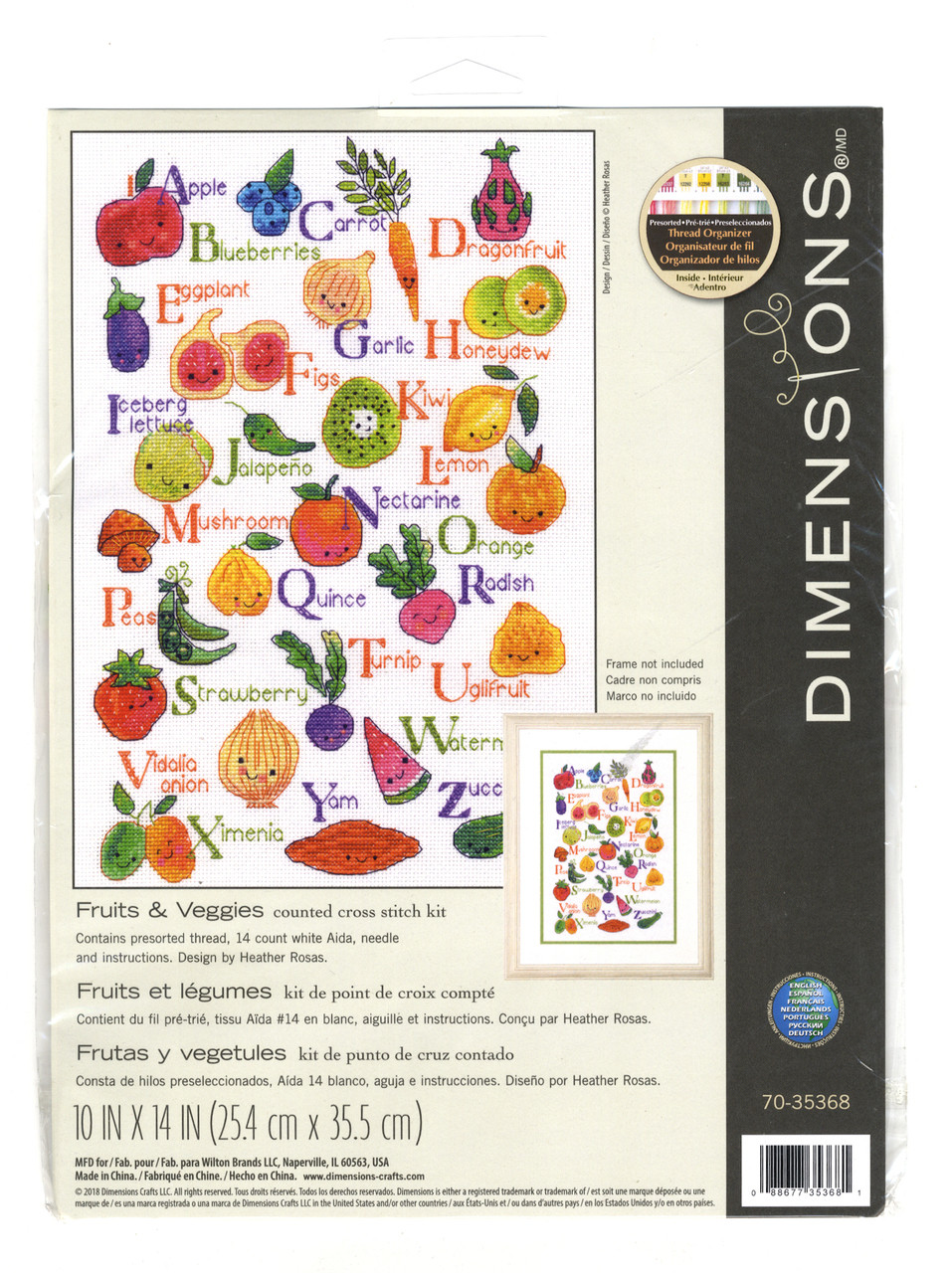 Dimensions - Fruits & Veggies