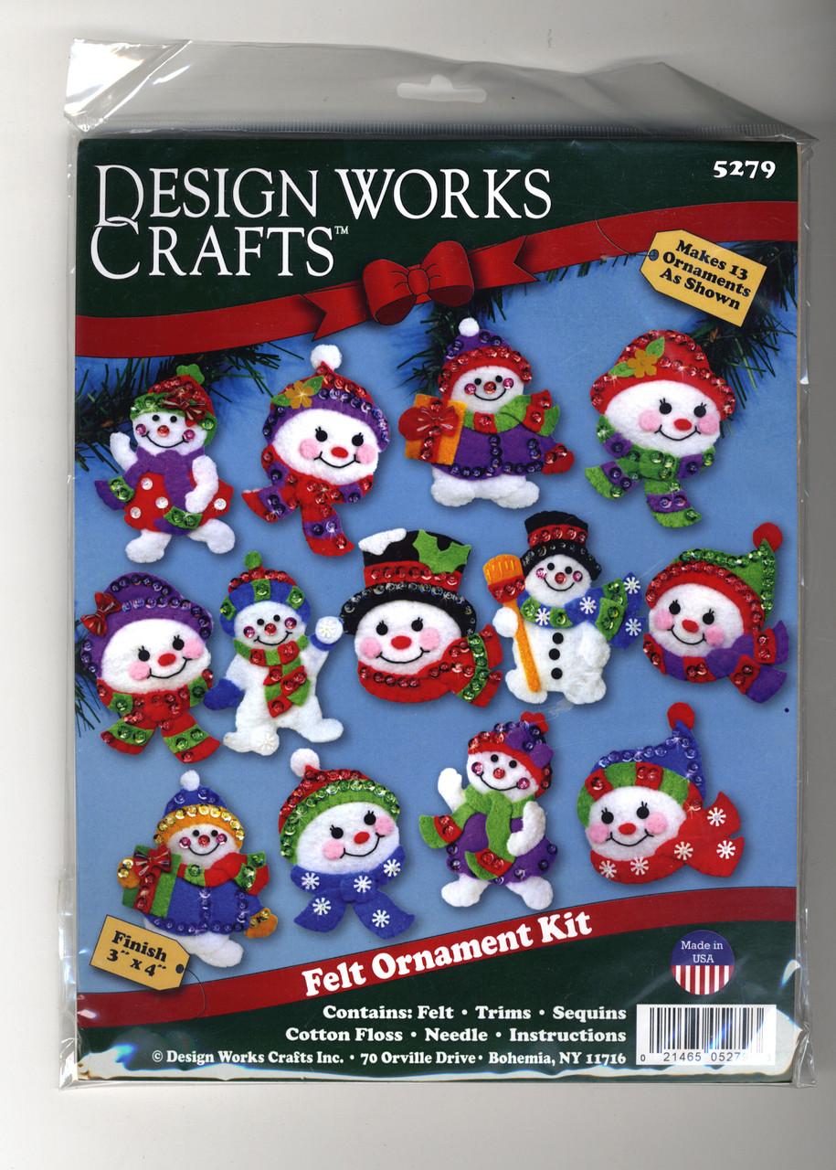 Design Works - Jolly Snowmen Ornament Set (13)