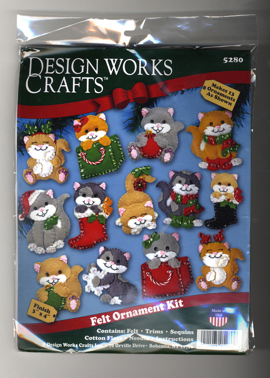 Design Works - Holiday Cats Set of 13 Ornaments
