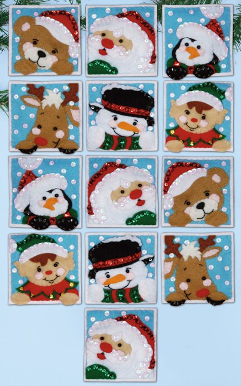 Design Works - Funny Friends Ornament Set (13)