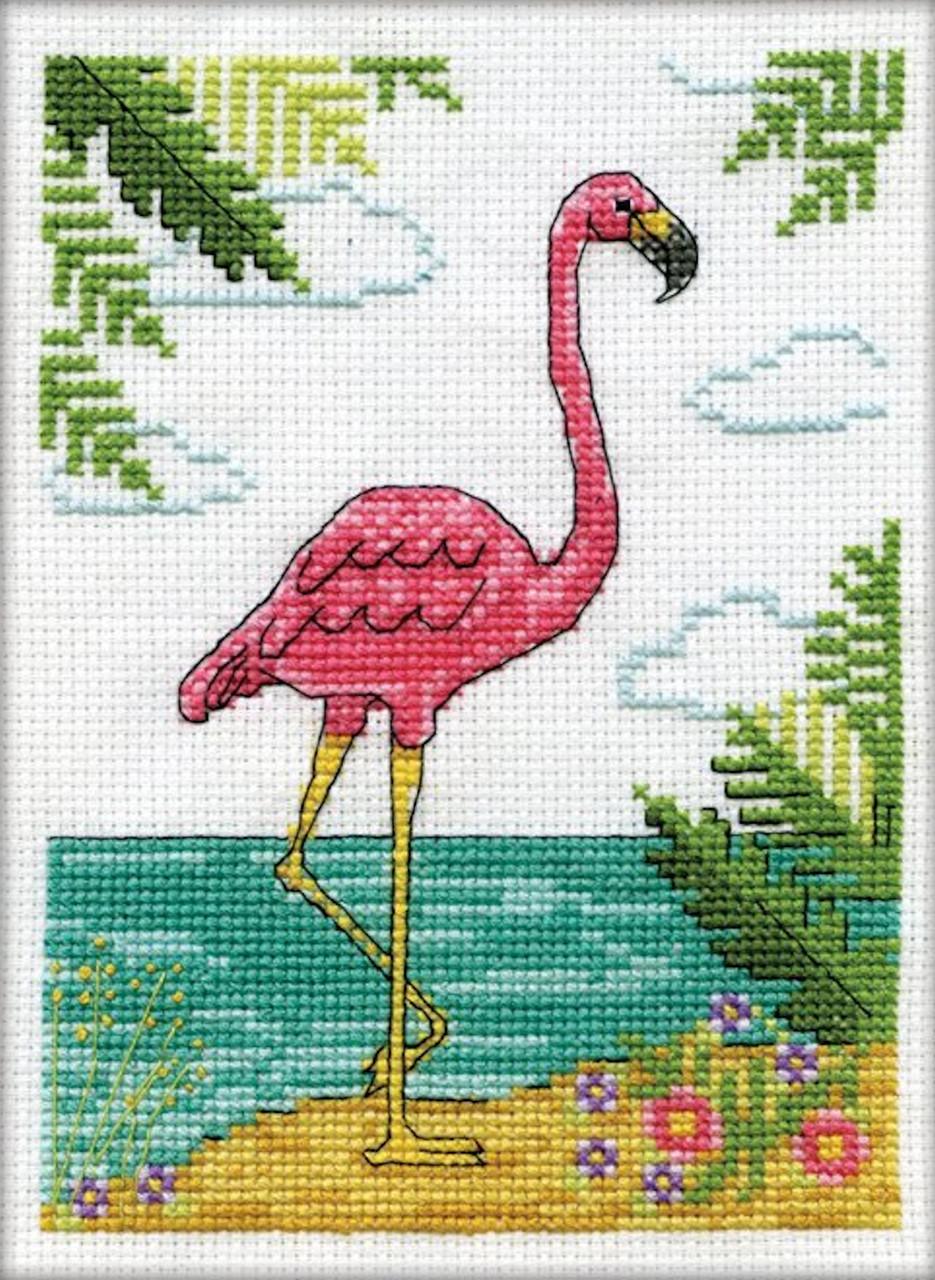 Design Works - Flamingo Stitch & Mat