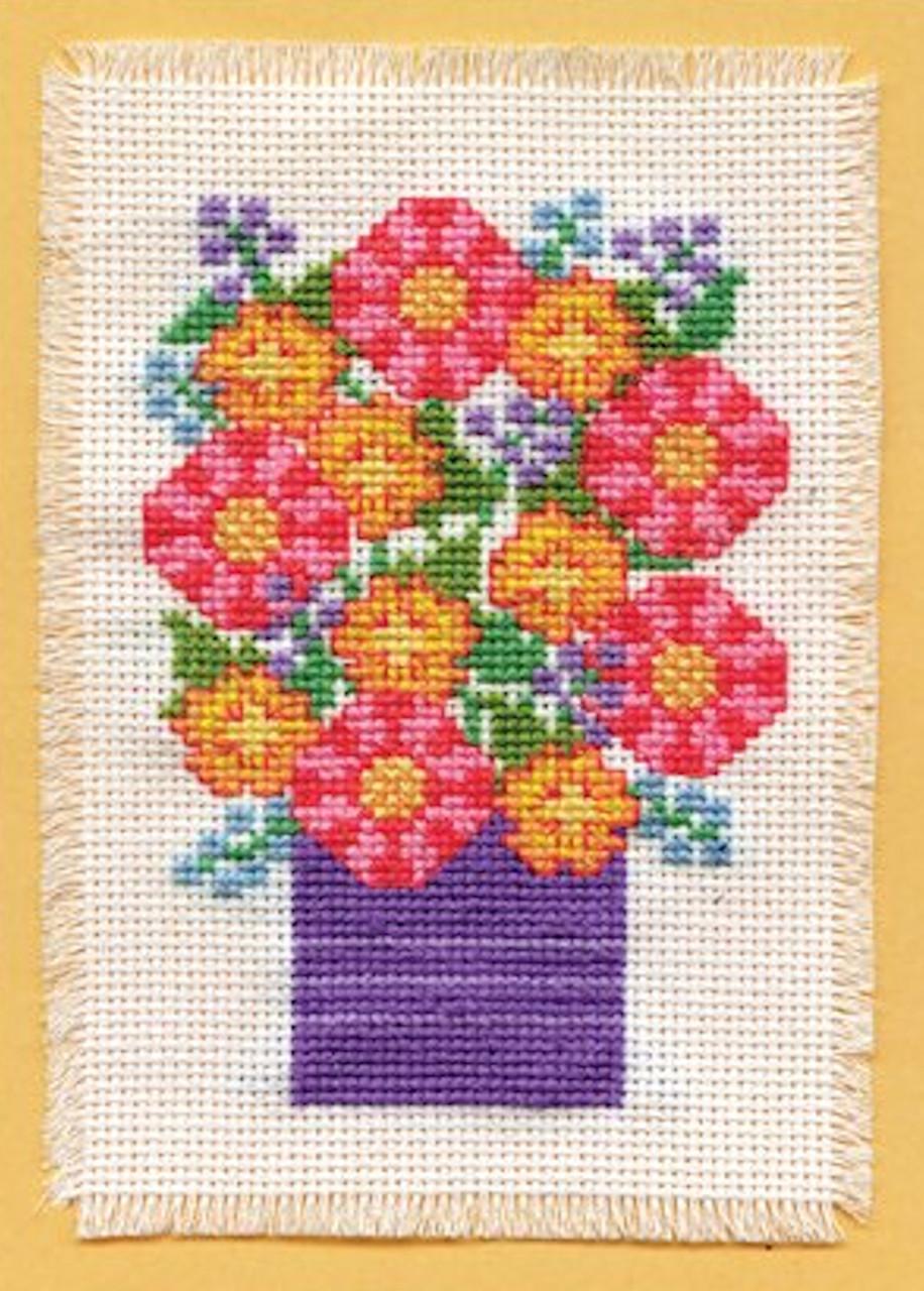 Design Works - Purple Vase Stitch & Mat