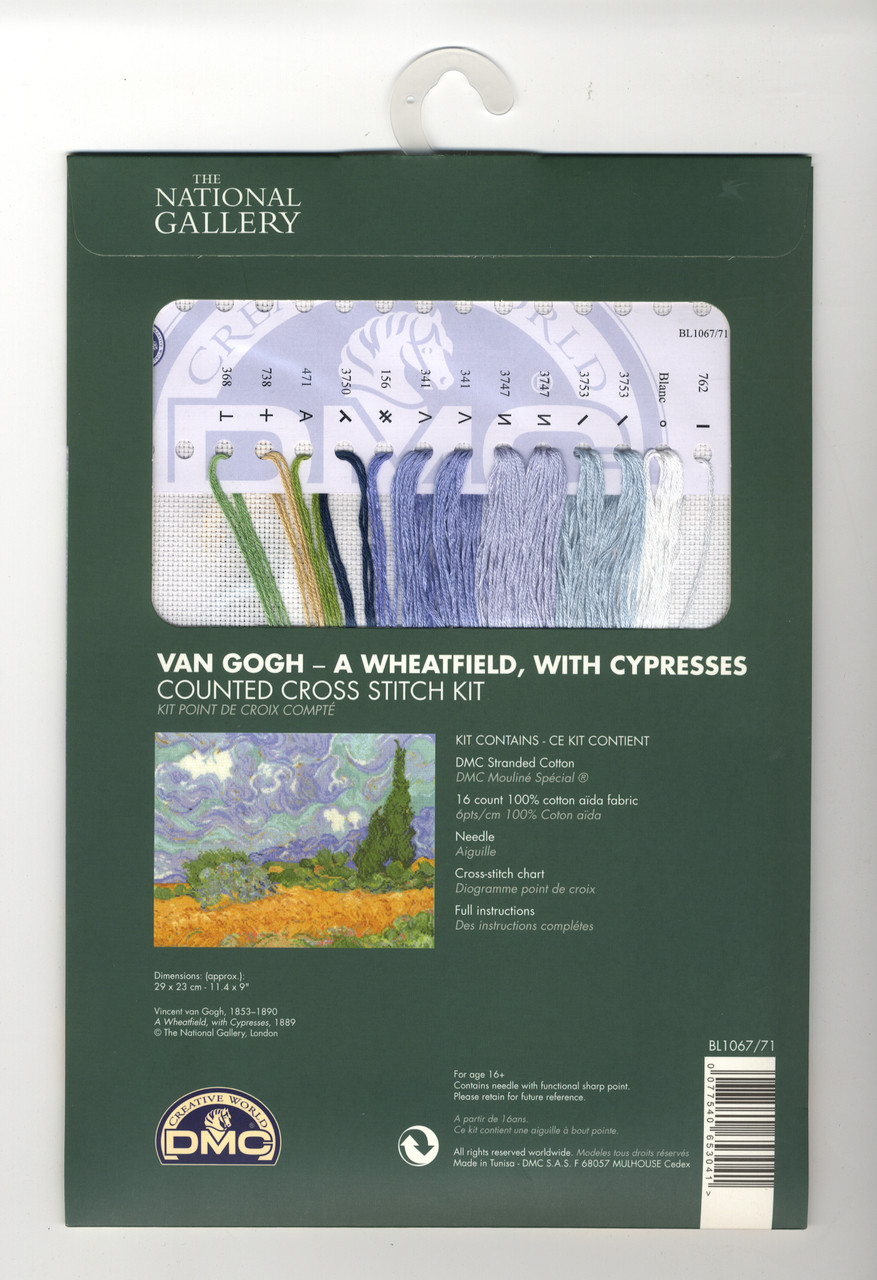 DMC - Van Gogh's A Wheatfield with Cypresses