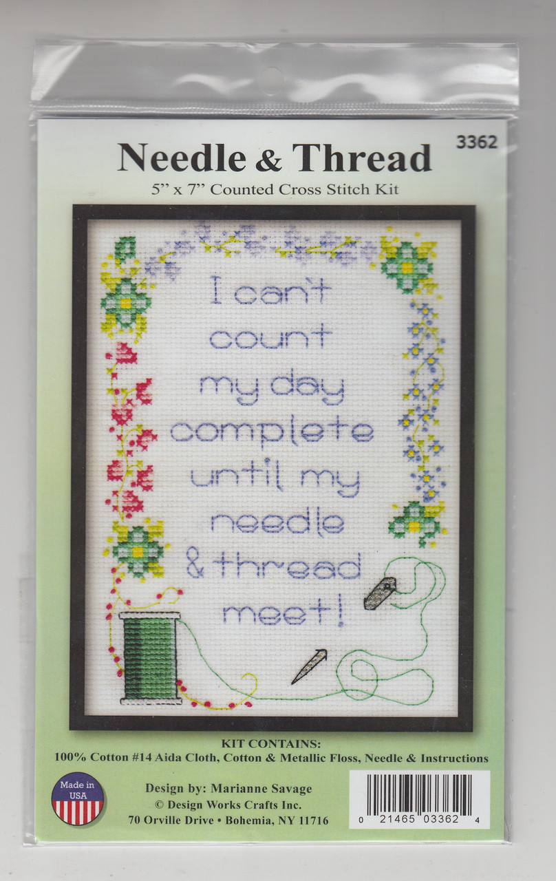 Design Works - Needle & Thread Saying