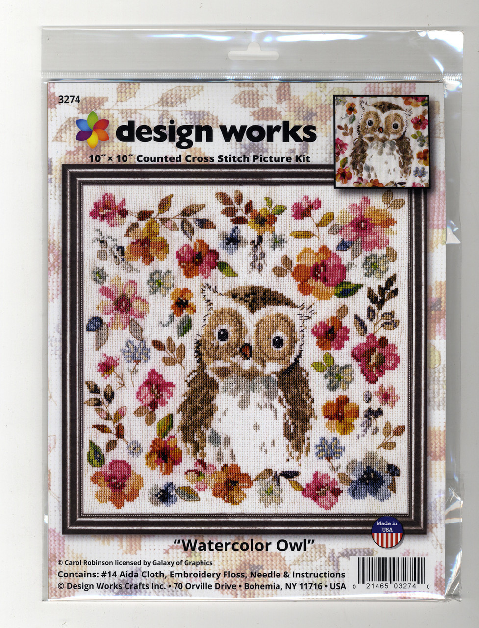 Design Works - Watercolor Owl