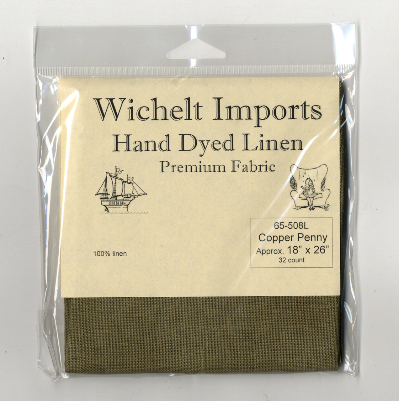 Wichelt - 32 Ct  Copper Penny Linen 18 x 26 in
