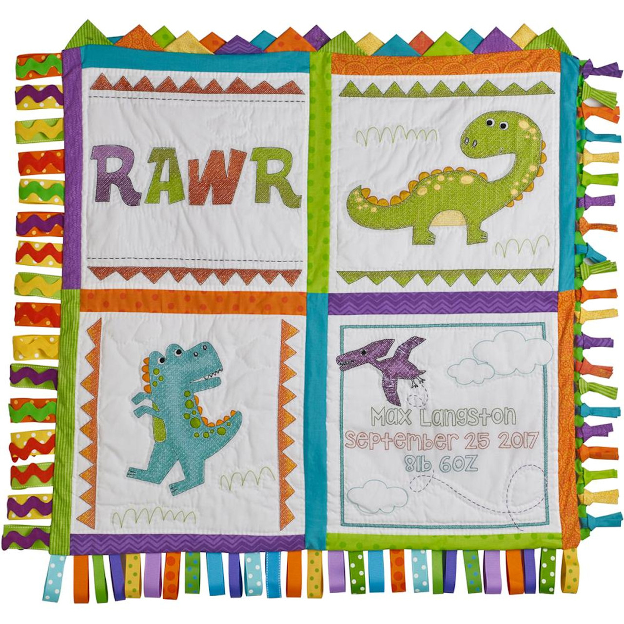 Plaid Bucilla - Dino Baby Quilt Blocks