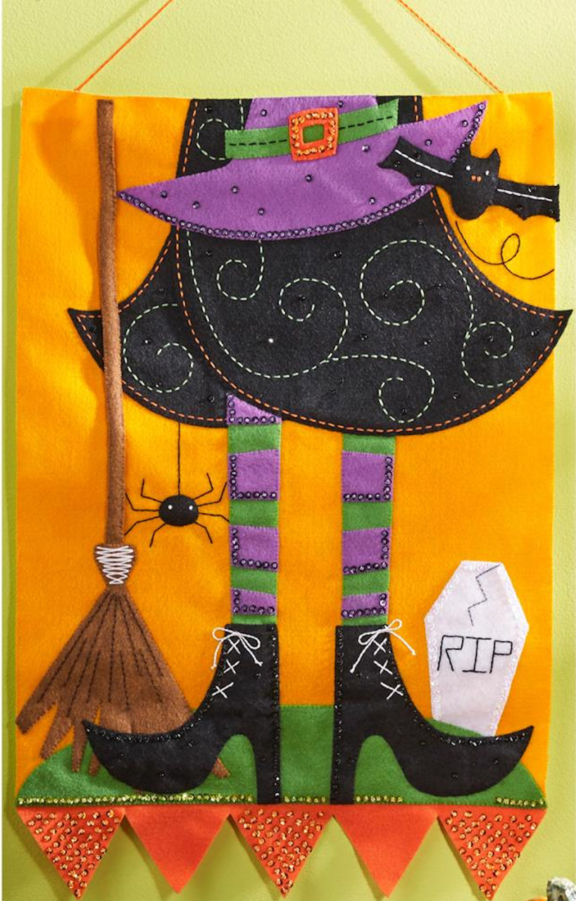 Plaid / Bucilla - Witch Wall Hanging