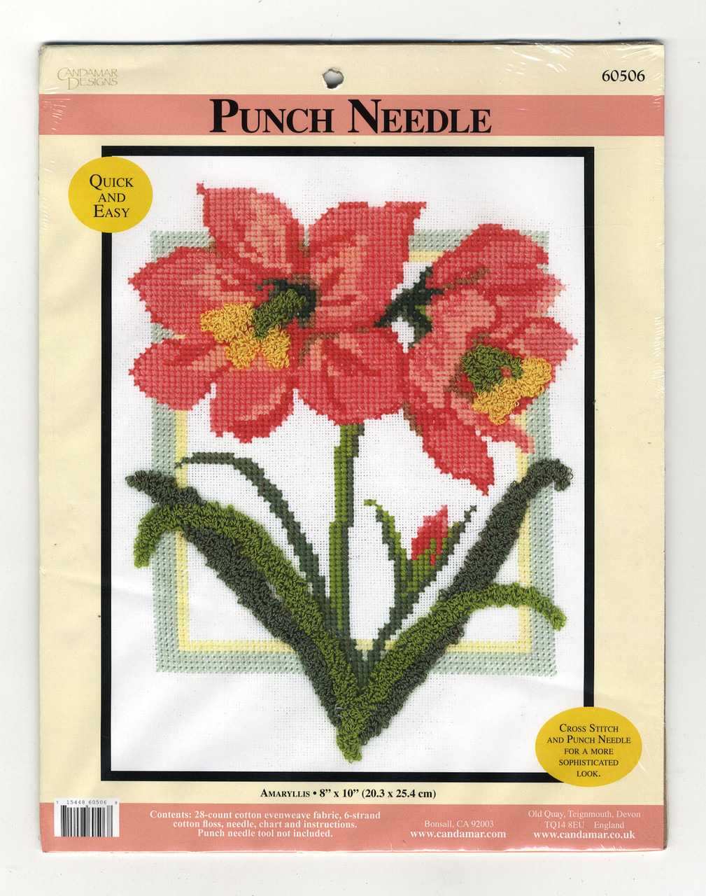 Candamar - Amaryllis Cross Stitch and Punch Needle Kit