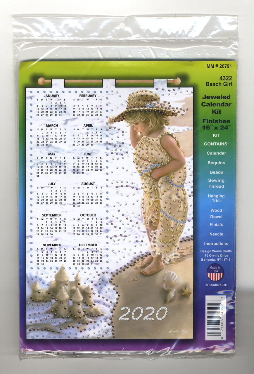 Design Works - Beach Girl 2020 Calendar