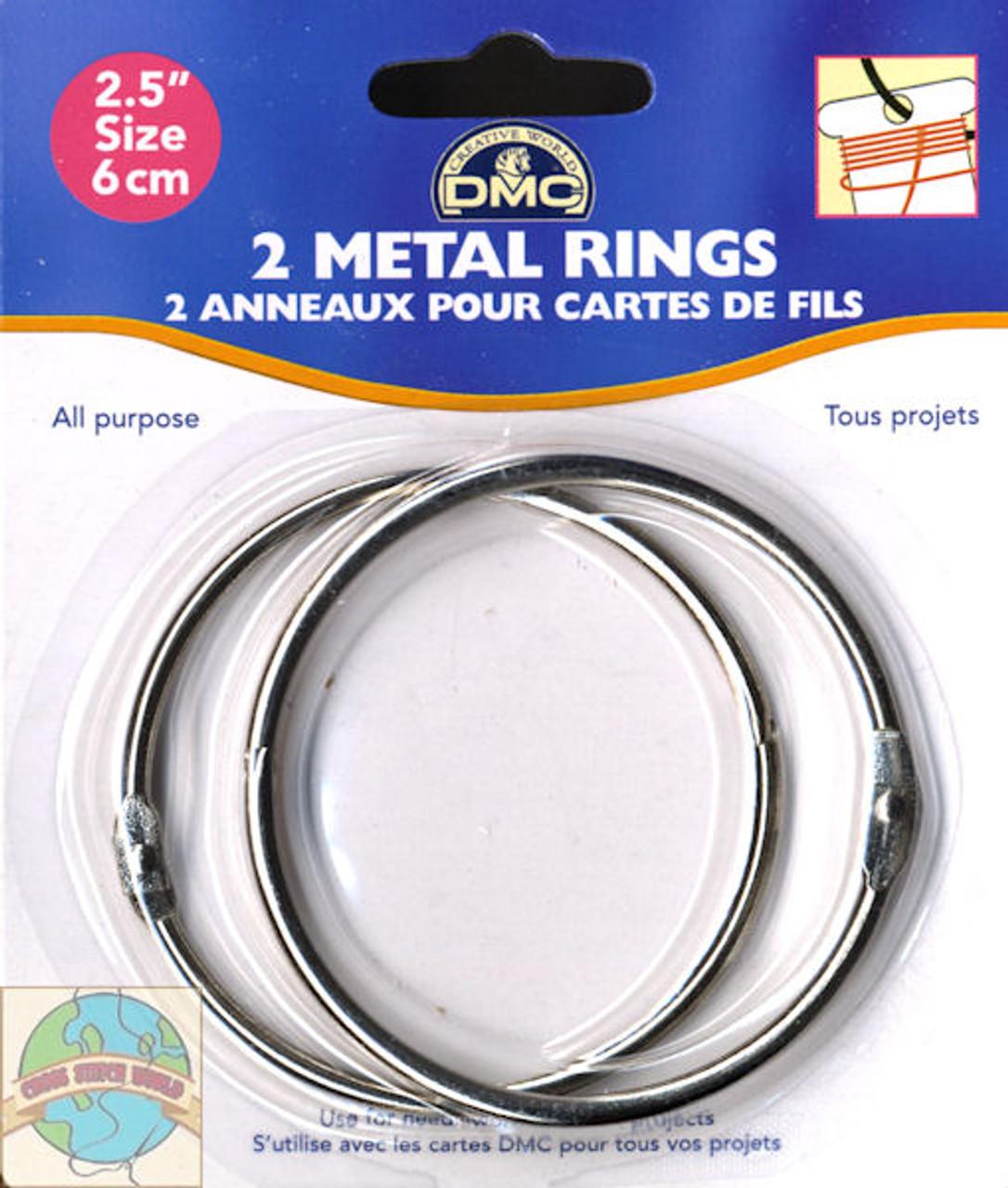 DMC - (2) 2.5in Metal Craft Rings